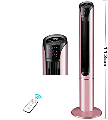 YQ WHJB Oscillating Tower Fan,oscillating Stand Up Super Quiet Bladeless Fan with Remote Control Compact Cooling Fan-a