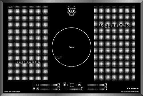 Kaiser KCT 77 La perle plaque induction 77 cm/ Free Zone de Cuisson à Induction/ autosuffisants/4 zones + Cercle/Plaque de cuisson/plaque électrique encastrable/Verre noir, facette/Lux fabricant/