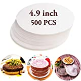 Meykers Wax Patty Paper Sheets for 5 Inches Burger Press - 500 Pcs Round hamburger patty paper to...