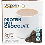 WonderSlim High Protein Hot Cocoa - Low Carb, KETO Friendly, Instant Hot Chocolate Mix with 12g Protein, Low Sugar, Diabetic Friendly, Low Calorie, Low Fat (7 Count)