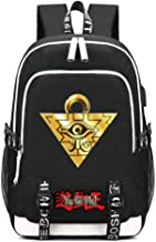 Gumstyle Yu Gi Oh Anime Multifunction Schoolbag Travel Bag Laptop Backpack with USB Charging Port and Headphone Jack