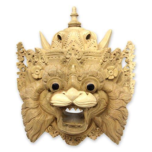 NOVICA Barong Macan Holz Maske