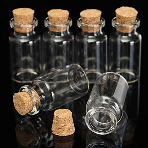 Komener 12 ml Botellas de Vidrio de Corcho Decoradas Que Deseen ...