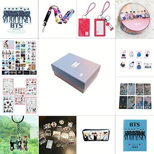 BTS Geschenk-Set für Army 97 Teile Bantan Boys World Box inkl. Postkarten-Aufkleber, Geschenketui für Tochter, Enkelin BTS-Box