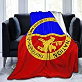 Acyliv Comanche Nation Flag Blanket Soft Throw for All Seasons Couch Bed Sofa Luxurious Warm and Cozy
