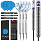 Raider 1: 23g Steel Tip Tungsten Darts Set - Blue Style Set of