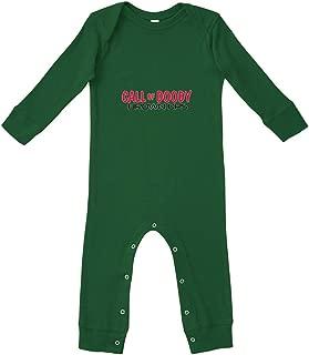 Call of Doody Brown Ops Bodysuit Legged Long Rib Coverall Boys-Girls