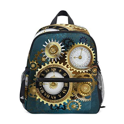 Asa Dutt528251 Kinder Rucksack Vintage Uhr Muster Schultasche Kindergarten Kleinkind Vorschule Rucksack für Jungen Mädchen Kinder