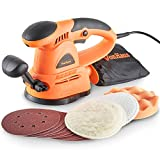 VonHaus 430W 125mm Random Orbit Sander with 3 Polishing Pads & 9 Sanding