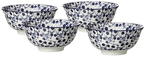 Ritzenhoff & Breker Schalen-Set Royal Sakura, 4-teilig, 15,5 cm Durchmesser, 650 ml, Porzellangeschirr, Blau-Weiß