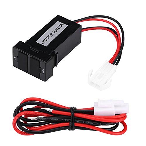 12V-24V 2.1A Adaptador de corriente del cargador de zócalo USB doble Puerto, USB Puerto de cargador de coche para teléfonos celulares Tableta GPS Cámaras