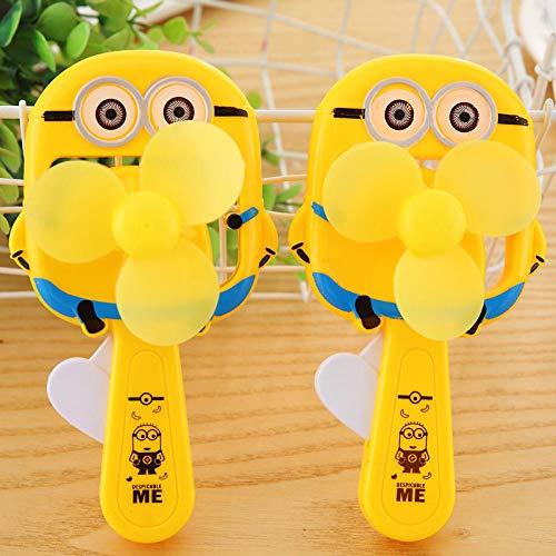 Mini grappige Minions hand druk ventilator draagbare Voor kinderen beste cadeau cartoon hand ventilator naar de zomer 2 stks