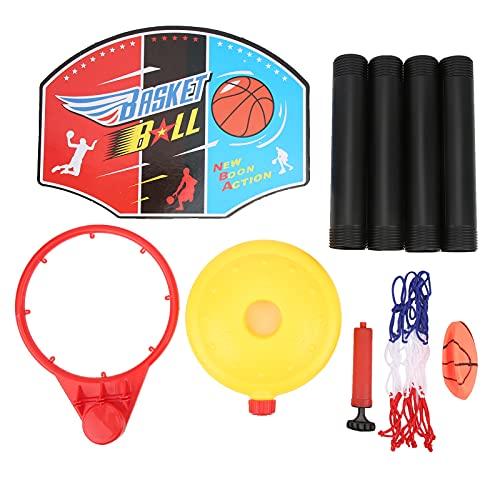 Juguete de Soporte de aro de Baloncesto, Altura Ajustable Juguete de Baloncesto Deportivo Juego de Juguete de Baloncesto para niños Ensamblar Juguete de Baloncesto para Fiestas Infantiles