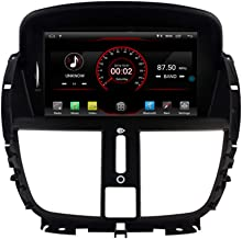 Autosion Android 9.1 Car DVD Player Sat Nav Radio Headunit Navigation Stereo for Peugeot 207 2007 2008 2009 2010 2011 2012 2013 2014 Steering Wheel Control Black