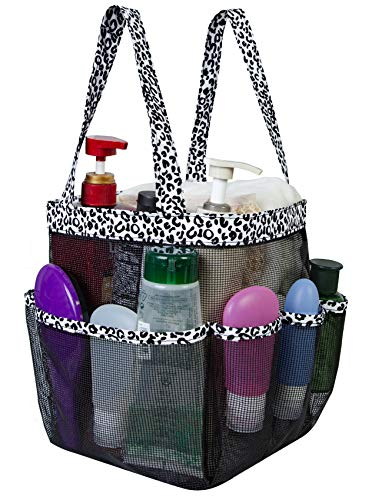 Attmu Cesta de malla para ducha, bolsa de ducha para colgar artículos de tocador, habitación universitaria, artículos esenciales para niñas y niños