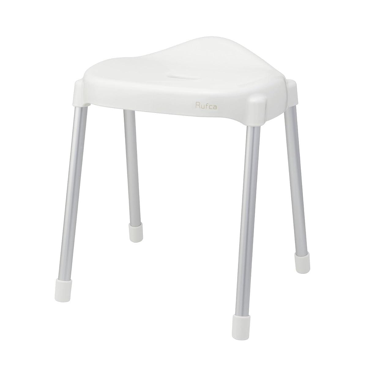 責ご予約任意レック Rufca 風呂いす ワイド座面 高さ40cm ホワイト (風呂椅子 バスチェア) BB-387