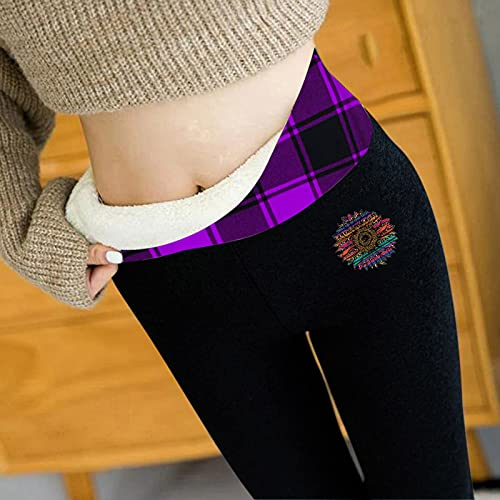 Alueeu Leggings Térmicos Pantalones Mujer Invierno pantalon Deporte Gruesos Pantalones Cintura Alta Push up Ropa Calientes Pantalóns con Forro Polar