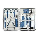 Tijeras de uñas Kit de cuidado de las uñas Professional Kit de cuidado de la manicura del conjunto de la manicura del conjunto de clavos con herramientas de cuidado facial Set de Manicura Pedicura