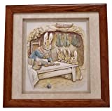   Cuadro decorativo The World of Beatrix Potter in Dècoupage   Peter Rabbits   Coleccionable   Cameo XL - 23 D - MARRÓN   Decoración hogar   Hecho a mano   Coleccionismo