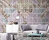 Celosía geométrica de planta tropical Papel tapiz con patrón de hoja Papel tapiz no tejido Mural de efecto 3 Pared Pintado Papel tapiz 3D Decoración dormitorio Fotomural sala sofá mural-400cm×280cm