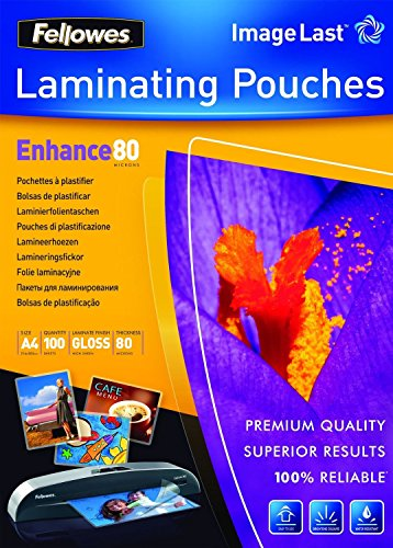Fellowes ImageLast lamineerfolie (80 micron, DIN A4, 300 stuks) transparant, DIN A4, transparant, 1