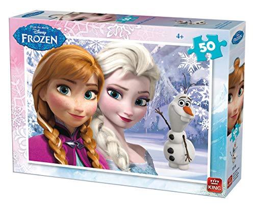 King- 2 Puzzles Frozen 50 pcs Rompecabezas