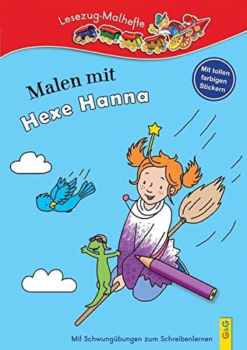 Malen mit Hexe Hanna: Lesezug-Malheft