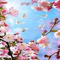 カスタム3D壁壁画美しい花ハト青空天井壁紙居間現代の家の装飾壁紙-200x140cm