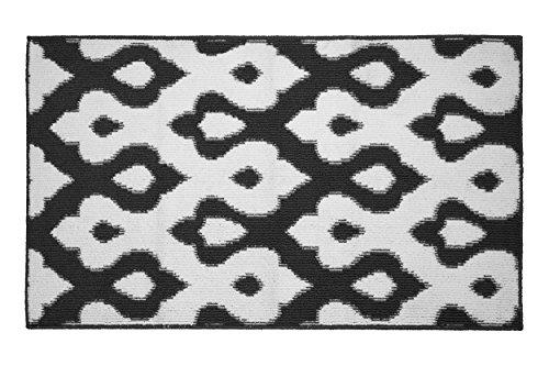 Jean Pierre All Loop Caravello 28 x 48 in. Decorative Textured Accent Rug, Dark Grey/Soft White