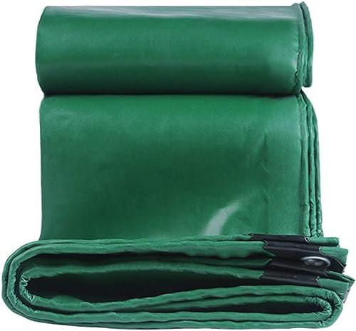 Trap Couverture de bache en PVC imperméable - Bache de bache d'auvent épaissie Polyvalente bache d'extérieur avec Oeillets, Vert (Taille   3m×5m)