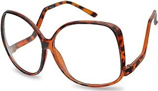 Vintage Inspired Round Super Oversized Clear Lens Fashion Eye Glasses Non-Prescription