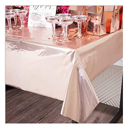 Dulau 2 Stück Party-Tischdecken, Party Tischdecken Bronzierende Roségold Party Rechteck Tischdecken, Geburtstags Hochzeitsfeier Tischdecke, Innen- oder Außenpartys Jubiläumsdekorationen, 108