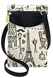 Danny K Women's Tapestry Crossbody Cell Phone or Passport Purse, Handmade in USA (L'AMOUR)