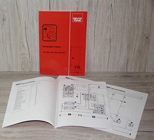 DEUTZ-FAHR Werkstatthandbuch Stromlaufplan Traktor DX 230 DX 250 DX 8.30