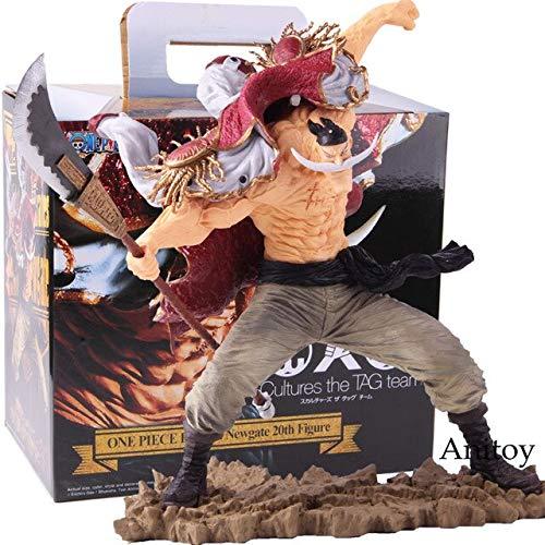 Yvonnezhang SC Edward Newgate 20. Figur One Piece Anime Figur One Piece Edward Newgate Whitebeard Actionfigur Sammlerstück Modell Spielzeug, mit Kleinkasten