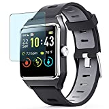 Puccy 3 Pack Anti Blue Light Screen Protector Film, Compatible with ENACFIRE Smart Watch W2 1.3' smartwatch TPU Guard ( Not Tempered Glass Protectors )
