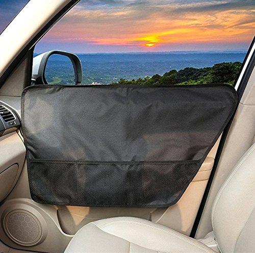 BASELIFE Pet Car Door Cover Wasserdichter Polyester-Schutz für Rücksitz-Türen, kratzfest und maschinenwaschbar, sicher für Hunde, für alle geeignet (2-Pack)