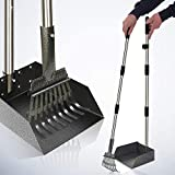 Dog Pooper Scooper, Adjustable 37.4' Long Handle Rake & Scooper Set, Strong and Sturdy, Rust-Proof Metal Poop Scooper Perfect for Lawns & Gravel, Great for Small to Large Dogs