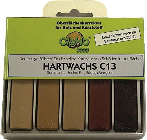 Cleho Hartwachs C13 | Farbe: Buche, Erle, Rüster, Mahgoni