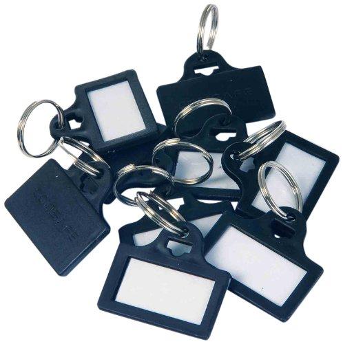 Rottner - Targhette portachiavi in plastica, colore: nero (confezione da 10 pezzi)