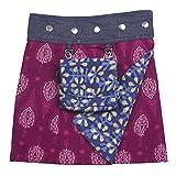 Sunsa Mädchen Rock Minirock Wende Wickelrock Sommerrock kurz, Baumwolle Mädchenrock Skirt, 2 Kinder Röcke in einem, mit Abnehmbarer Tasche, Größe verstellbar Coole Sachen/Geschenke 15719