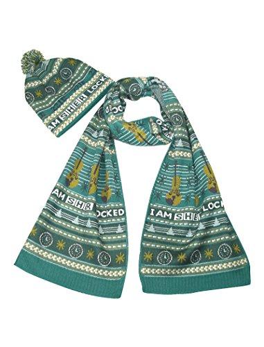 LOVARZI Sherlock Schal und Mütze Weihnachten Set – Offiziell BBC lizensiertes Geschenk Set