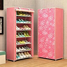 ELECTROPRIME 8 Layer DIY Large Capacity Shoe Rack Non-Woven Standing Storage Rack Prevent Dust Shoe Organizer Shoes Cabinet Home Furniture