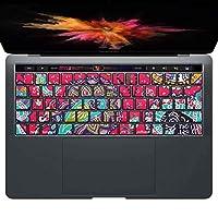 igsticker MacBook PRO 15inch 2016 ~ 専用 キーボード用スキンシール キートップ ステッカー A1990 A1707 Apple マックブック エア ノートパソコン アクセサリー 保護 011727 ペイズリー 模様 ピンク