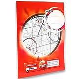 LANDRÉ, blocco di carta millimetrata, in formato A3, 80 g/m², 20 fogli incollati sulla sommità A3 1 pezzo