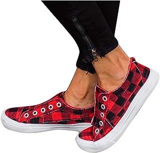 95sCloud - Zapatillas planas para mujer, con rejilla de lona, elegantes, para el tiempo libre, para el tiempo libre, para ...