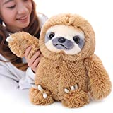 Winsterch Sloth Stuffed Animal Plush Sloth Bear Toys Kids Gift Baby Doll ,Brown Sloth Toy 15.7\