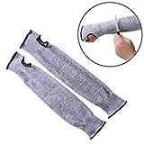 WHCWH Elbow Hülse Sicherheits-Schutz-elastische atmungsaktiv Anti-Cut Elbow-Arm-Hülsen HPPE Protektoren, Länge: 45cm