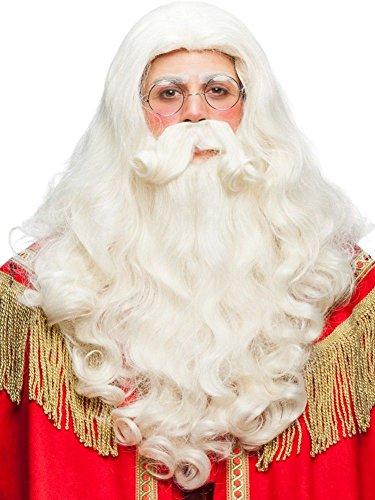 Panelize Der Gute alte Weihnachtsmann Santa Claus Nikolaus Perücke + Bart im Set