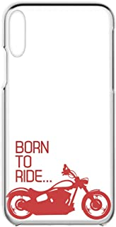 Xperia XZ SO-01J・SOV34・601SO 対応 ハードケース すまほケース [透明カバー バイク・レッド] レトロ オートバイ SONY ソニー エクスペリア エックスゼット docomo au SoftBank スマホカバー ...